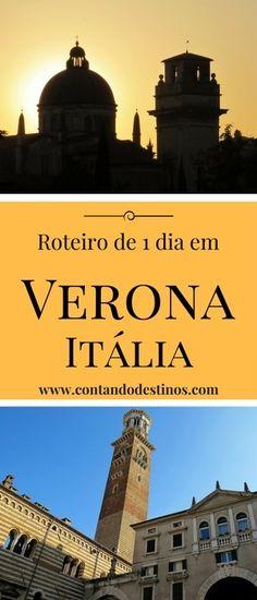 Roteiro de 1 dia em Verona na Itália | O que fazer e os principais pontos turísticos de Verona, Itália Places Around The World, Around The Worlds, Europa Tour, Places To Travel, Travel Destinations, Senior Trip, Eurotrip, Future Travel, Travel Guides
