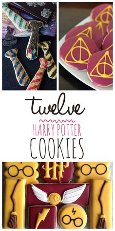 12 Harry Potter Cookies