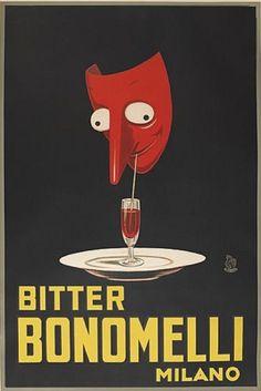 Poster by Maga (Giuseppe Magagnoli), 1922, Bitter Bonomelli/Milano.
