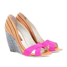 Rupert Sanderson – KIBO LEATHER PEEP-TOE wedges
