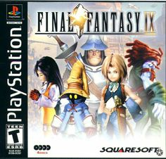 Final Fantasy IX box art - Playstation - Squaresoft