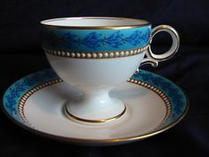 Royal Worcester Cup Saucer Jewelled 1876 91 | eBay