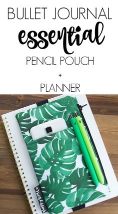 GIFT IDEA! ♥ This adorable planner pouch cover will keep all of your must-haves close at hand. You can use this organizer to store pens and pencils, stickers, washi tape, school supplies, electronic gadgets, makeup, and other small accessories. The open front pocket will fit most cell phones. The sturdy elastic band is custom cut for a perfect fit. When your next brilliant idea pops up, you'll be ready! #affiliate