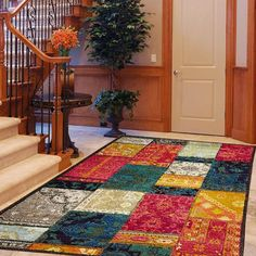 Stunning patchwork design rugs multi is machine made in Egypt, offers an antiqued, yet modern aesthetic. This rug is a new cross-woven collection. Patchwork Designs, Modern Rugs, Layout, Colours, Flooring, Antiques, Home Decor, Antiquities, Antique