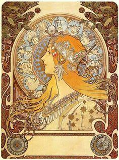 Zodiac -Alphonse Mucha