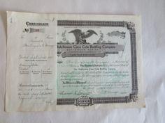 The Hutchinson Coca Cola Bottling Co Stock Certificate 18 Hutchinson KS