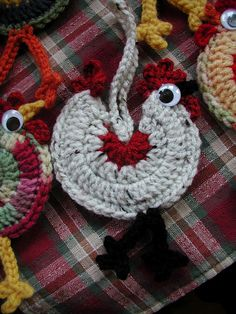 ***  Crochet Chicken Ornament!  ***