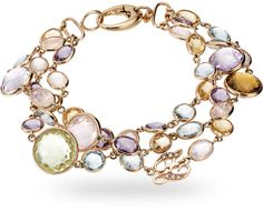 ZGBR0345RRMSL - 18 kt. pink gold bracelet with 57.00 ct. of semi-precious mix and 0.04 ct. of diamond