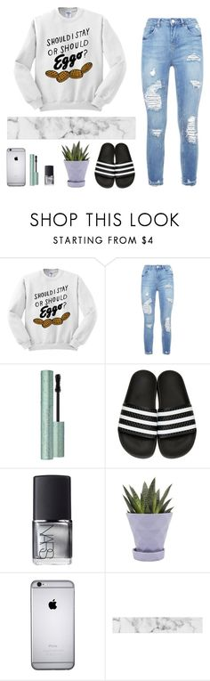 """""""say you were made to be mine"""" by xx-day-dreamer-xx ❤ liked on Polyvore featuring Too Faced Cosmetics, adidas Originals, NARS Cosmetics and Chive"""