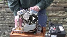 AWESOME Scale Running Model of Harley Engine - Ron Colonna is the builder of this great miniature engine. This engine seems small, but sounds like the full size engi