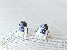 R2D2 Droid Star Wars Earrings