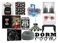 """""""Dorm Room Style"""" by cursedgaster ❤ liked on Polyvore featuring interior, interiors, interior design, home, home decor, interior decorating, Comfort Research, Modloft, Tri-coastal Design and Exclusive Home"""