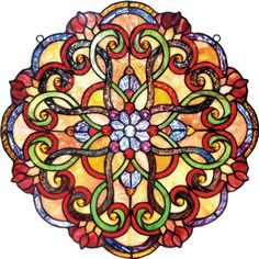 Kaleidoscope Stained Glass Panel                                                                                                                                                                                 More