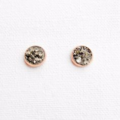 Mini Pyrite Stud Earrings by WildAirCo on Etsy