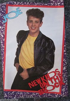 Throwback hottie- Joey from NKOTB. The exact Joey Mcintyre poster I had on my wall, and plastered with kisses every night when I was 11.