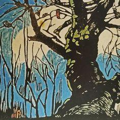 Australian artist Margaret Preston - The Banksia tree woodblock print x NGA Margaret Preston, Australian Artists, Woodblock Print, Moose Art, Flowers, Painting, Animals, Instagram, Design