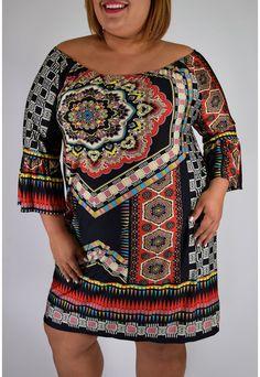 Plus Size Have Faith Dress from Elohai Plus Size Boutique