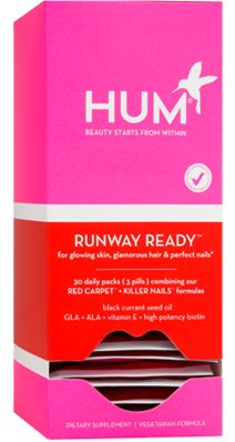 Runway Ready supplement pack for hair, skin, and nail health. $25 for 30 Day pack