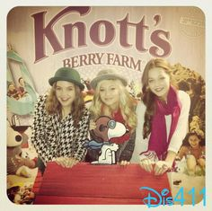 Pics And Video: Olivia Holt, Kelli Berglund, China Anne McClain And Bailee Madison At Knott's Merry Farm