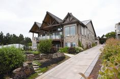 Choice Construction, Remodel, Custom Homes, Gig Harbor, Curb Appeal, Landscaping, Driveway, Metal Roof, Wood Beams, Deck, Water View