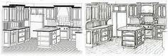 Cabinets Perspective - Custom Cabinetry Design