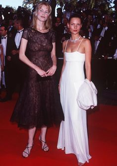 claudia schiffer & kate moss, cannes.