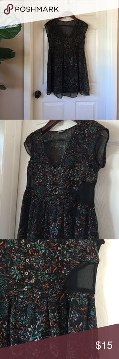 Urban Outfitters Babydoll Dress Ecote babydoll dress. See through panels on the sides. Size X-small Ecote Dresses
