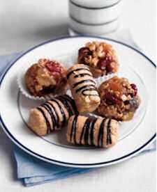 NO BAKE COOKIES: Peanut Butter, Banana, Chocolate-Hazelnut Oatmeal, Chocolate Oatmeal, Fruit & Nut, Apricot Gems, Low Country, Almond-Date-Coconut, Fudgy Snowballs, Coconut Orange Juice, Cranberry Nut, Healthy
