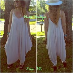 Spaghetti strap jumpsuits Peachy/pink harem jumpsuit is beach ready. Price is firm - S (2-6) M (8-12) L (14) Pants Jumpsuits & Rompers