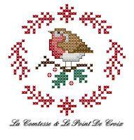 De Borduurvrouw: Borduurpatroontjes Kerst