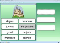 Screenshot from Clicker 6 resource Adjective Options - Places