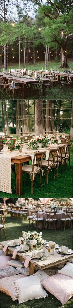 boho chic outdoor wedding reception setting ideas #weddingdecor #weddingideas #weddingreception #weddinginspiration #bohoweddings
