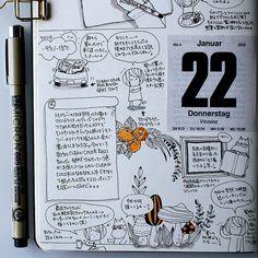 2015-01-22  仕事のし過ぎで書けることがなかったのでペンの話とイラストの練習の日。チョコ星人がムーミンもどきに戻りました。服描くのめんどい←…