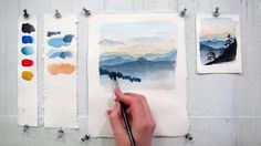 In this 7 minute tutorial you will study how to paint sky and mountains using basic watercolor techniques. Materials: 140 lb watercolor paper, 3 different si...