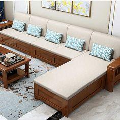 Wooden Sofa Designs, Wooden Sofa Set Designs, Bed Design Modern, Furniture Design Living Room, Furniture Sofa Set, Wooden Sofa, Modern Sofa Living Room, Furniture Design Wooden, Sofa Bed Design