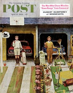 Saturday Rain by Earl Mayan, April 25, 1959, The Saturday Evening Post.