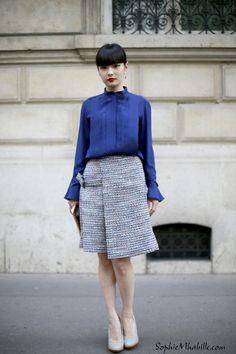 #kozueakimoto #paris #japanese #skirt #symetric #jupe #shirt #chemise #parisfashionweek #fashion #women #style #look #outfit #streetfashion #streetstyle #street #chic #women #mode #pfw #fashionweek #mbfw #femme #parisfashionweek #moda by #sophiemhabille