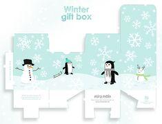 Free Printable Winter Gift Box