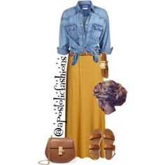 A fashion look from August 2017 featuring Soul Cal tops, Aéropostale sandals and Chloé shoulder bags. Browse and shop related looks. Style Outfits, Modest Outfits, Skirt Outfits, Fall Outfits, Casual Outfits, Fashion Outfits, Womens Fashion, Modest Clothing, Summer Outfits