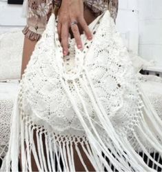 Bags & Purses – Page 2 – The Sound of White Crochet Purses, Crochet Bags, Knitted Bags, Mode Crochet, Boho Bags, Knit Patterns, Vintage Leather, Crochet Stitches, Crocheting