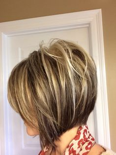 Inverted Bob Short Hairstyle with highlights. Thinking about going short again.