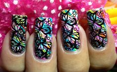 Butterfly Stamped Rainbows