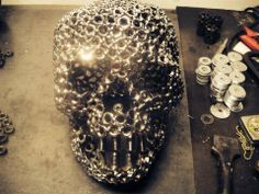 Image detail for -Miller - Welding Projects - Idea Gallery - Skeleton Warrior Welding Art Projects, Metal Projects, Metal Crafts, Welding Ideas, Type Acier, Skeleton Warrior, Steel Art, Scrap Metal Art, Metal Shop