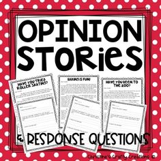 This packet includes 10 student opinion letters/passages with question response sheets.-Great for 2 weeks of group work, homework activity, whole class review, or independent practice.-Also includes writing directions and a graphic organizer!-PDF & Powerpoint versions included. These can be uplo... Reading Resources, Reading Strategies, Teacher Resources, Classroom Resources, Teaching Writing, Writing Prompts, Teaching Ideas, Comprehension Posters, Reading Comprehension
