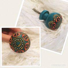 Boho dresser knob! Accent boho hand drawn knob! Accessories
