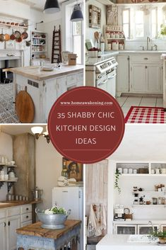 Check out these 35 cute shabby chic kitchen ideas (photo gallery) #shabbychic #kitchen #dreamkitchen Beautiful Kitchen Designs, Beautiful Kitchens, Shabby Chic Kitchen, Kitchen Decor, Kitchen Ideas, Home Decor Inspiration, Kitchen Inspiration, Beach Kitchens, White Countertops