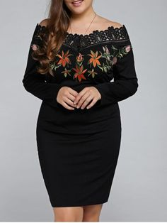 GET $50 NOW   Join RoseGal: Get YOUR $50 NOW!http://www.rosegal.com/plus-size-dresses/plus-size-embroidered-off-the-805659.html?seid=1424208rg805659