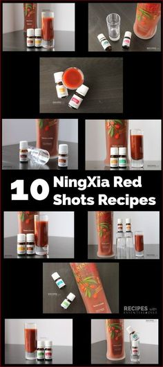 10 NingXia Red Shots Recipes Using Vitality Essential Oils from RecipeswithEssentialOils.com