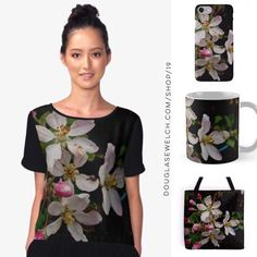 """Spring into """"Apple Blossom Time"""" with these Tops, Totes, iPhone cases and much more!    http://welchwrite.com/blog/2017/03/01/spring-into-apple-blossom-time-with-these-tops-totes-iphone-cases-and-much-more/#sthash.wwwOvac7.dpuf    #flowers #fruit #apple #tree #nature #garden #blossoms #products #cards #clothing #arts #crafts #technology #iphone #samsung #cases #bags #totes #photography #prints #home #housewares #clocks #journals #pillows #clocks #mugs #shop #shopping #redbubble"""