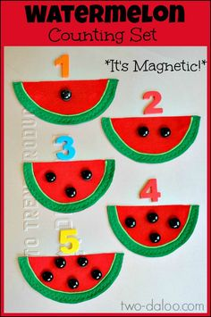 Magnetic Watermelon Counting Set from Twodaloo